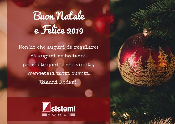 Auguri Di Buon Natale E Felice 2019 Sistemi Forlì